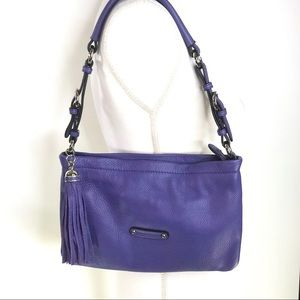 Danier Leather Bag Grape Coloured